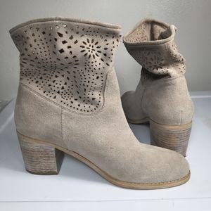 Crown Vintage Womens Heel Boots Grey Size 8.5M